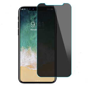 Fall Freundlich Datenschutz Ausgeglichenes Glass Shield Anti-Spy 9H-Schirm-Schutz-Film für iPhone 11 Pro Max XS XR X 8 7 6 Plus Nein Paket