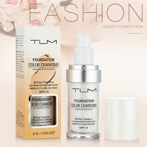 Горячая TLM изменяющая цвет жидкая основа Основа для макияжа Обнаженная маска для лица Корректор Долговечная основа для тона кожи