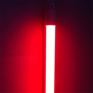 중국 심천 공장에서 UAE T8 LED 튜브 색상 60cm 90cm 120cm 180-265V G13 조명 2835SMD 빨간색 녹색 파란색 노란색 전구 램프 직접