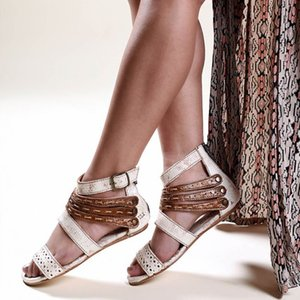 Lucky2019 European Will Code Sandals Woman Level con Flat Bottom High Ayuda Rome Rome Shoes