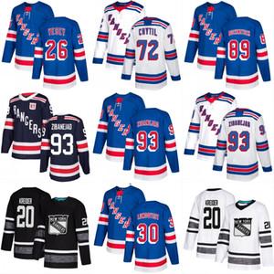 New York NY Rangers Parley 2019 Trikots von ALL STAR Mika Zibanejad Chris Kreider Henrik Lundqvist von Jimmy Vesey Ryan Strome Pavel Buchnevich