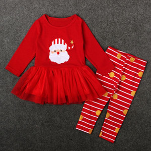 Outfit Kids clothing Little girls Tracksuits fashion Autumn Winter Casual Clothing Sets 2 pcs suit Top Quality