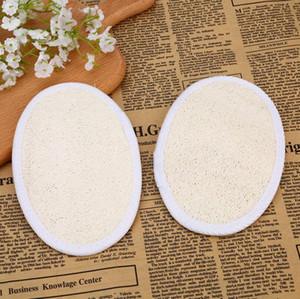 13 * 18 cm di forma ovale in spugna per luffa naturale rimuovi la pelle morta bagno doccia spugna per luffa facciale LX5117