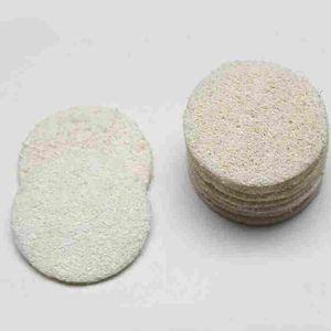 Roud Natural Cara Loofah Luffa cojín de maquillaje Quitar esponja exfoliante Loofa y la herramienta de la piel muerta del baño de ducha