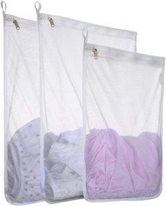 Mesh Bag di lavanderia per Delicati con cerniera YKK, Mesh Wash Bag, immagazzinaggio di viaggi organizzano Borsa, Abbigliamento lavaggio Borse per il bucato, Viaggi