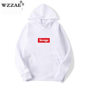 WZZAE 2019 New 21 Street Wear Algodão Hoodies Parody No Heart X camisola do Hoodie das mulheres dos homens de Hip Hop