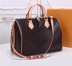 De calidad superior !! bolso 2020 de la manera clásica de las mujeres de cuero genuino bolso Envío libre Speedy bandolera 25x19x15cm