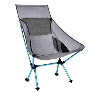 Cep Ultralight Sandalye Açık Mobilya Camping ile Grey Ay Sandalye 1200g Balıkçılık Kamp Katlama Yürüyüş Koltuk