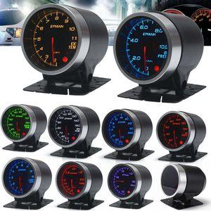 EPMAN 12V 52mm 10 Color Racing Car Oil Pressure Water Oil Temp EGT Turbo Boost Tachometer Gauge Meter