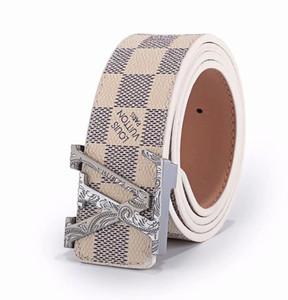 Loisirs de luxe de la célèbre marque ceinture ceinture grande boucle en cuir haut mode hommes