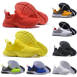 2019 Nuevo Safari Pack PRESTO 5 BR QS Breathe Negro Blanco Amarillo Rojo Hombres Mujeres Zapatillas de running Hombre Racer Blue diseñador Zapatillas deportivas