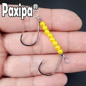 5pcs Duplo drop shot gancho para baixo Plano Rig gancho grande diferença Fishing Worm giratória para Lure macia Bass Fishing