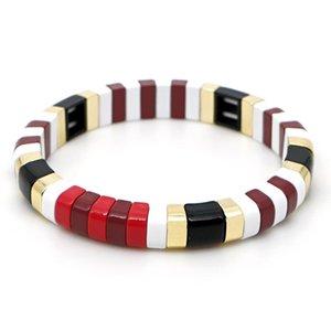 Shinus Enamel Tile Bracelets Armband Bracelet Men Stackable Women Pulseras Mujer Moda 2020 Boho Chic Accesorios Jewelry Gift
