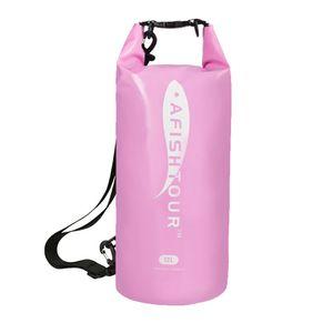 Motorcycle Bag Outdoor PVC Dry Sack Bag Waterproof Shoulder Bag Diving Swimming Hiking Driving Travel Kits