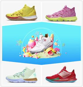 Новый Kyrie 5 Spong Bob мужская баскетбольная обувь желтый красный дизайнер Мистер Крабс Сэнди щеки спортивные кроссовки CJ6951-700-600-300 CJ6953-600-100