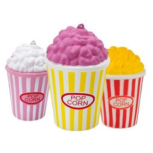 Kawaii Squishy Jumbo Popcorn Rising lent téléphone Charms crème parfumée Pendentif gâteau de nourriture pain Kid Toy cadeau Fun