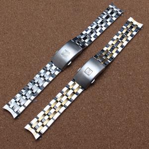 Yüksek Kaliteli 19mm 20mm PRC200 T17 T461 T014430 T014410 Watchband İzle Parçaları erkek şerit Katı Paslanmaz çelik bilezik askıları