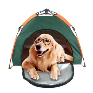 Camping tents dog cat tent Outdoor pet tent automatic folding cat house dog house rain proof sun proof portable pet house car dog tent