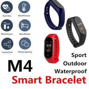 Pulsera inteligente M4 rastreador de ejercicios PK Mi-Fit banda de bit de estilo deportivo reloj inteligente 0,96 pulgadas Presión arterial Frecuencia cardíaca ID115PLUS PK M2-M3