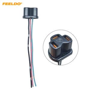 Оптовые Авто H4 галогенных туман ксеноновых светодиодной Plug адаптер автомобили Электропроводка Удлинитель H4 Light # Разъем сокет с 5956