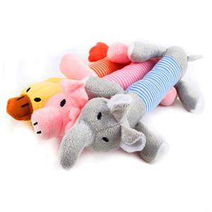 Populaire Chien Chat drôle en peluche Toison Durabilité Dog Toys Squeak Chew son Jouet Fit pour tous les animaux Elephant canard porc Jouets en peluche