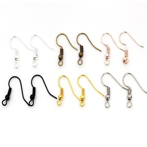 100 шт. / лот 20x17 мм DIY серьги выводы серьги застежки крючки фитинги DIY ювелирные изделия делая аксессуары железный крюк Earwire ювелирные изделия выводы
