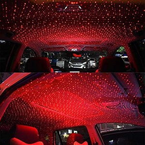 Proiezione auto Atmosfera lampada cielo notturno stellato Interni Luce della lampada della stella del tetto Decorazione Con Rotating Light Car