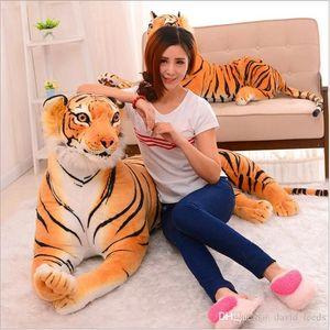 2019 New Soft Stuffed Animals Tiger Plush Toys Pillow Cartoon Animal Big Pattern Kawaii Doll Cotton Girl Toys For Children 30cm 40cm 50cm
