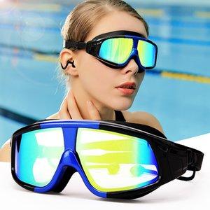 Professional Swimming Goggles Adults Men Women Waterproof Electroplate Swim Eyewear UV Anti Fog Sport Water Glasses For Pool Y200616