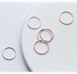 Kadınların Minimalizm 1 mm'lik ince tasarımı parmak yüzük Shenzhen Jewellry için Çin Düşük Adedi toptan katı 925 gümüş yüzük