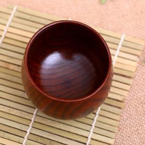 Jujube Holz Cup Handgemachte natürliche Holz Grüner Tee Flaschen Frühstück Milch Bier trinkender Tee Cup Empfindliche Kaffeetasse mit Griff VT1618 T03