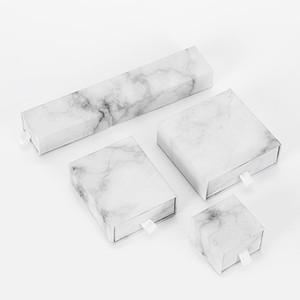 [Ddisplay와] 화이트 대리석 쥬얼리 설정 상자, 결혼 반지 케이스, 목걸이 선물 패키지, 귀걸이 스터드 포장, 특수 팔찌 서랍 상자