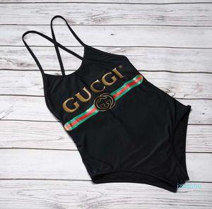 2020 Gc Designer Mode-Kreuz-Riemen-Buchstabe-Druck-Badebekleidung Bikini für Frauen-Badeanzug-Verband-reizvolle Badeeinteiliger Anzug S-XL