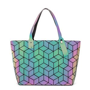 Diomo Fashion réfléchissant Fourre-tout et de luxe Sacs à main Femmes Sacs Sac à main épaule géométrique Y200328