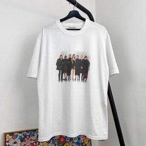 Nueva Banda 20SS foto del modelo del impreso de alta de la calle tee de cuello redondo manga corta de los hombres de las mujeres de gama alta de viajes camiseta transpirable verano tee HFYMTX848