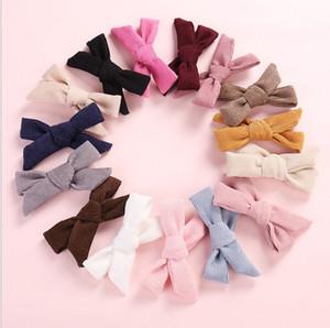 Muchachas de la manera de la buena calidad de la pana de las horquillas de mejor venta de moda niños pequeños princesa Hairwear Pretty arco de pelo clips para el partido