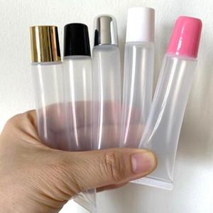 10ml 15ml 20ml Boş Ruj Tüp, Dudak Yumuşak Hortum, Makyaj sıkın Alt şişeleme, Saydam Plastik Dudak Konteyner