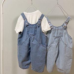 2020 Summer Korean Children's Clothing New Boys and Girls Han Fan Cute Parent-Child Denim Casual Overall