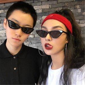 2020 nouvelle mode couleur rétro Triangle Cat Eye Sunglasses personnalisés européennes et américaines Ombrelle Femme Lunettes de soleil en gros