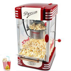 2020LEWIAO paslanmaz çelik son stilin 220v Elektrik Popcorn Makinesi Kırmızı Renk Retro Stil Popcorn Maker 310W