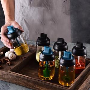 Kitchen baharat şişe cam kapalı yağ fırça şişe kaşık kapak Kap bal şişe T9I00342 baharat entegre