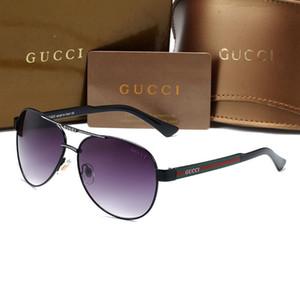 2020 High Quality Classic Pilot Sunglasses Designers Brands Mens Womens Sun Glasses Eyewear Metal Glass Lenses