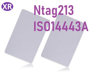 200pcs NTAG213 rfid tarjeta inteligente tarjeta en blanco 13.56 Mhz NFC etiqueta NFC tarjeta ntag213 para el teléfono compatible con todos los teléfonos NFC