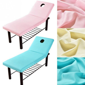 New Professional Cosmetic salon sheets SPA massage treatment bed table cover sheets with Face Hole Sheet