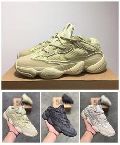 Nuovo Salt 500 Kanye West Designer Shoes Scarpe Uomo Super Luna Giallo Blush Deserto Rat 700 corridore Sport scarpe da tennis correnti