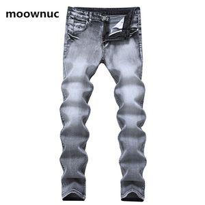 Jeans Slim Casual Style Jeans Men's Fit Elastic 28-38 Nostalgia Classic Men 2020 Grey Trousers Denim Spring Size Mens Iohrl