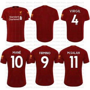 2020 new fan jerseys away football jersey short-sleeved suit 19-20 jersey11 Salah 10 mannequin 9 Firmino comfortable breathable sweatshirt