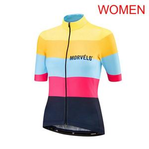 2019 Morvelo Ciclismo manga corta jersey mujer manga corta bicicleta Jersey Top Ciclismo Ropa Verano Montar carretera Mountain Bicycle Wear K052935