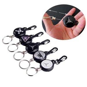 Tragbare Schlüsselanhänger für Männer Edc Schlüsselanhänger Stahldraht Retractable Schnallen Schlüsselanhänger Frühling zurück Schlüsselhalter Schlüsselanhänger Zubehör