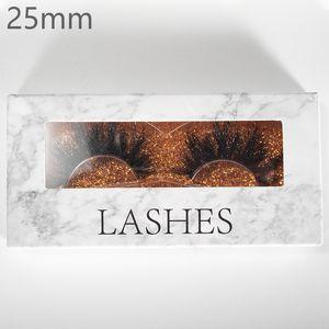 Vmae 22-25mm 64 estilos 5D Mink Pestañas etiqueta privada 100% real de piel de visón hecho a mano de la pestaña falsa Crossing pestañas individuales de Gaza Grueso latigazo